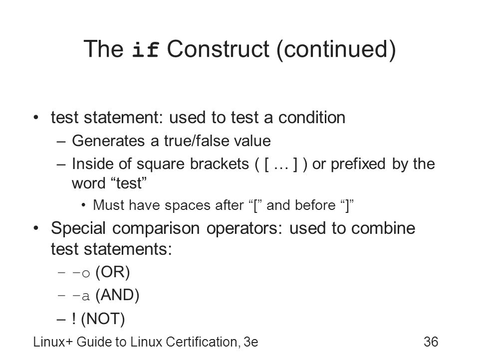 The if Construct (continued)