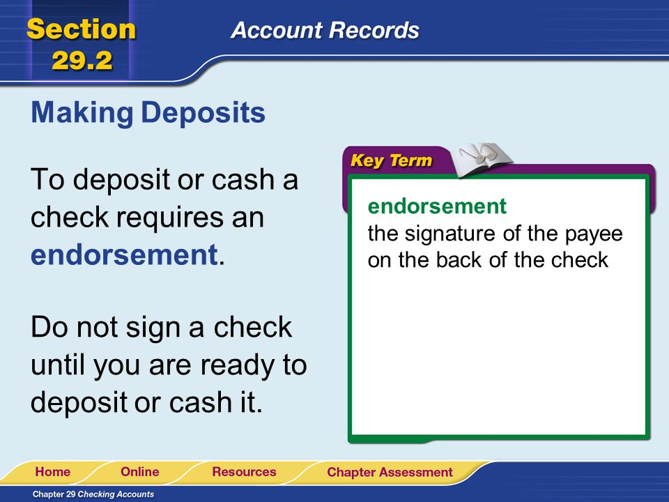 How to Deposit a Check Into Your Account