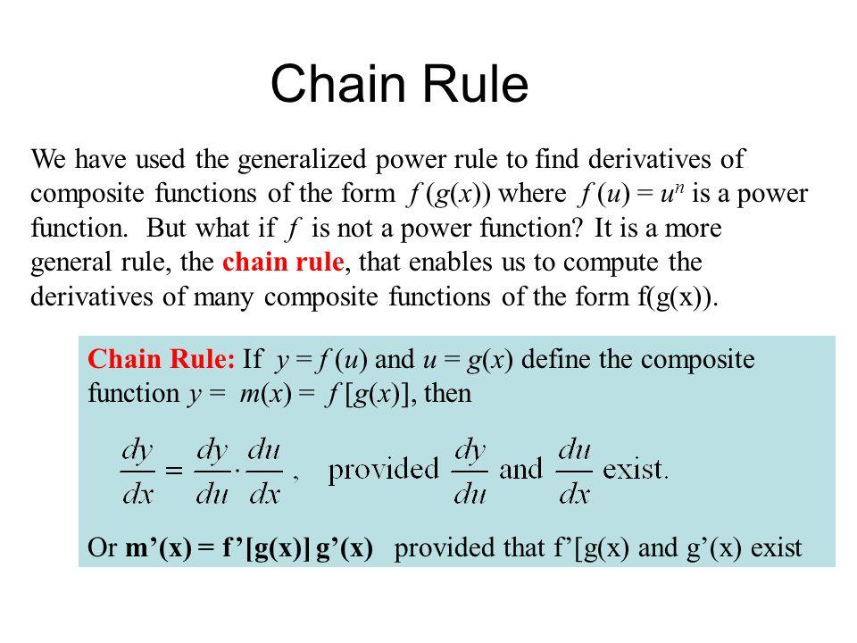Calculus I - Chain Rule