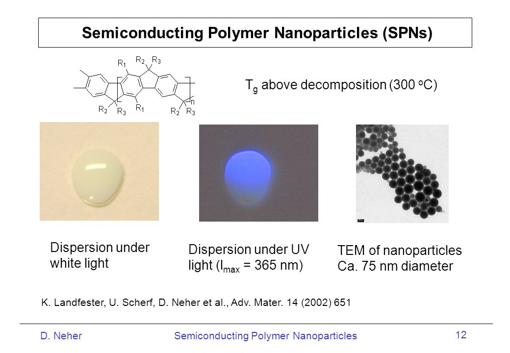 Semiconducting Polymer Nanoparticles (SPNs)