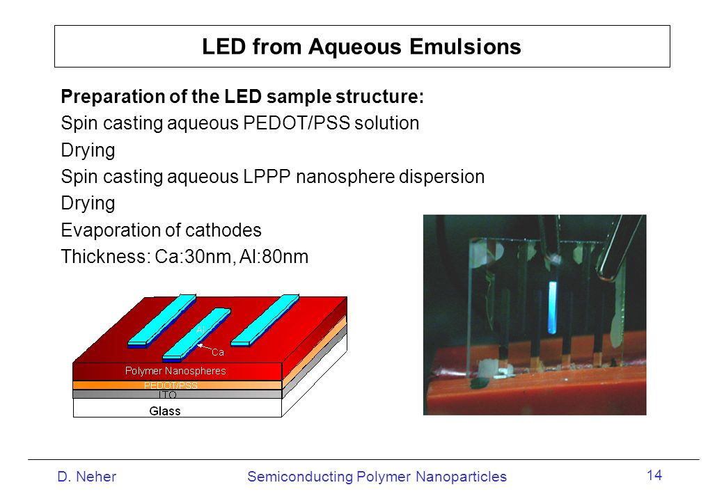 LED from Aqueous Emulsions