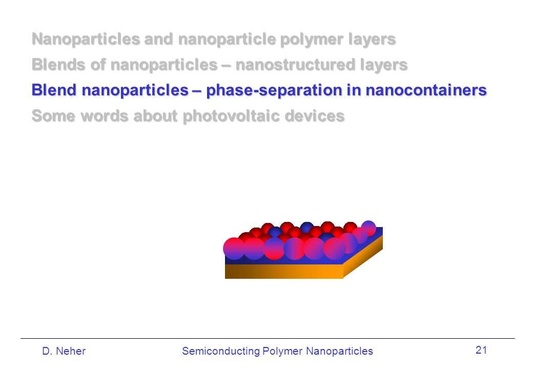 Nanoparticles and nanoparticle polymer layers