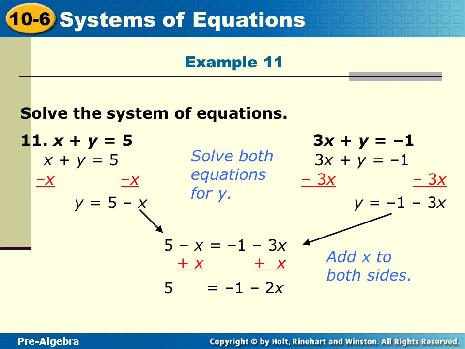 Learn to solve systems of equations. - ppt video online ...