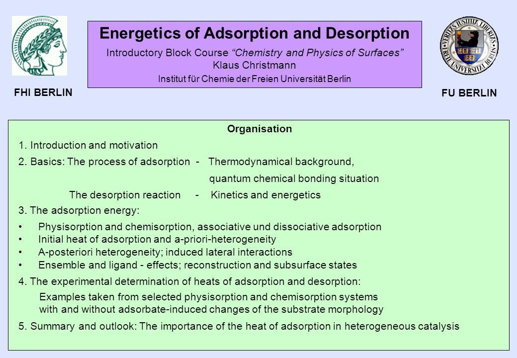 Energetics of Adsorption and Desorption