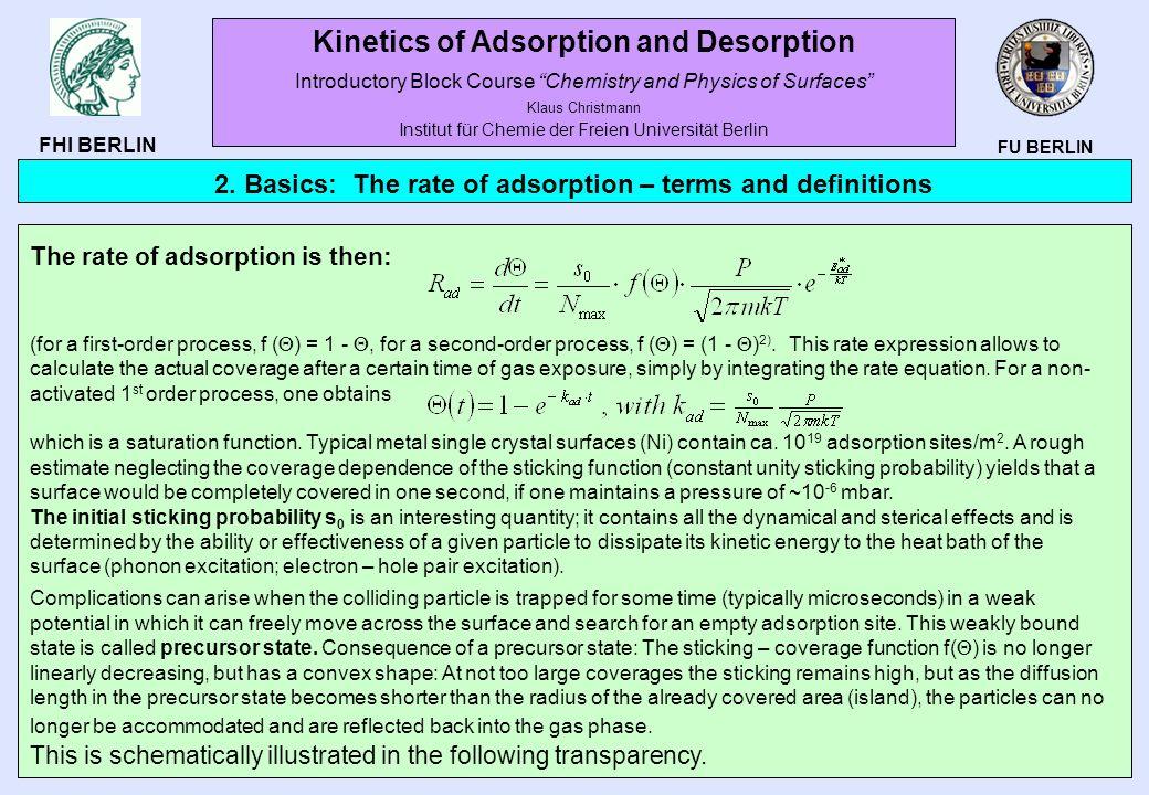 Kinetics of Adsorption and Desorption