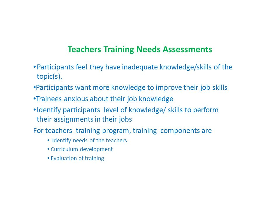 Elements Of Needs Assessment In The Context Of Training - Ppt