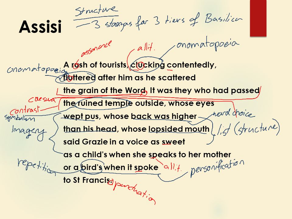the poem 'assisi' written by norman Revise norman maccaig's poem, assisi in which the speaker describes a visit to  the basilica of st francis of assisi for national 5 english.