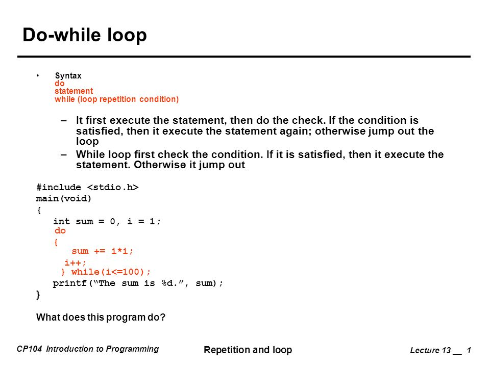 how to make if statements loop