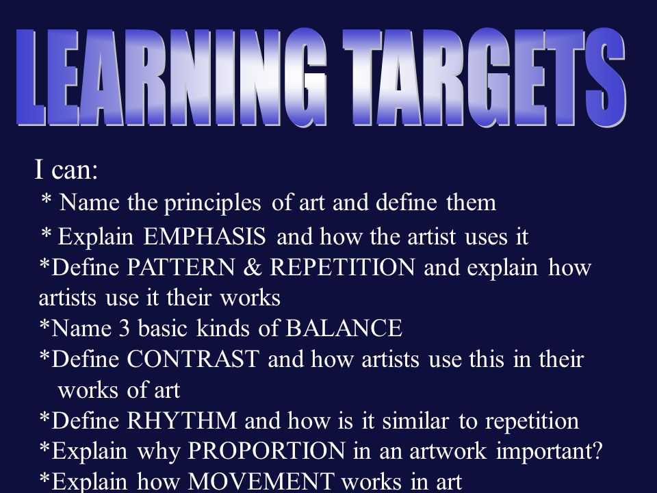 Different Principles Of Art : Art elements and principles ppt video online download