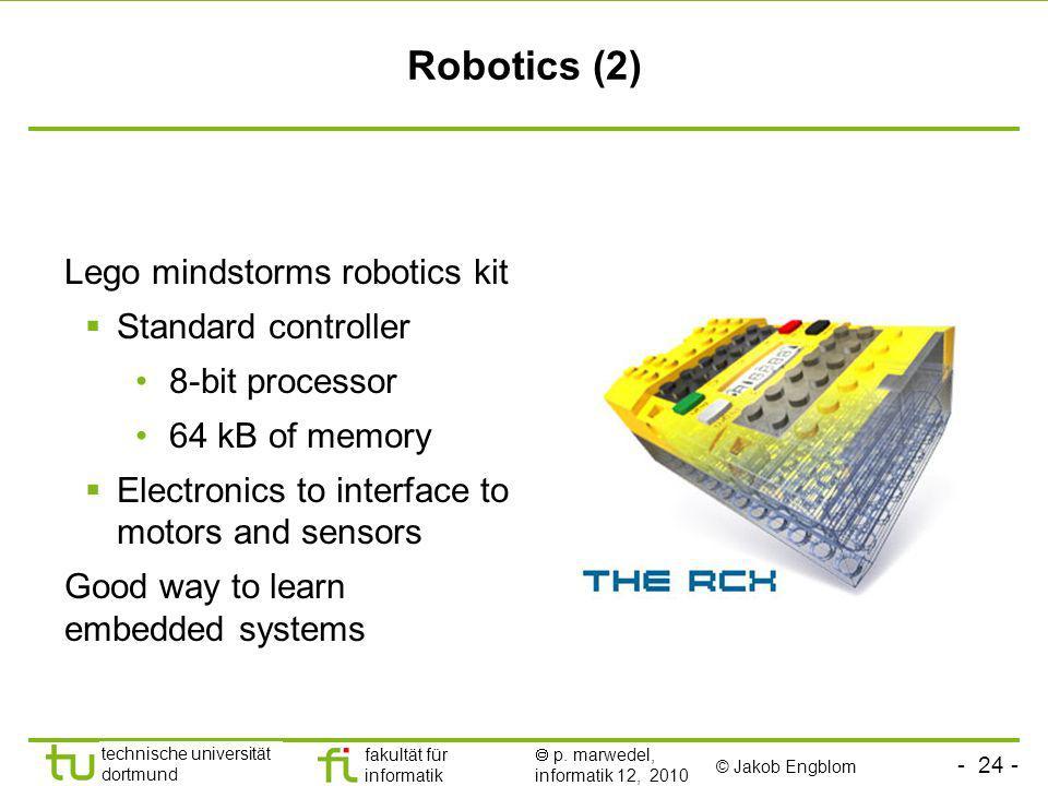 Robotics (2) Lego mindstorms robotics kit Standard controller