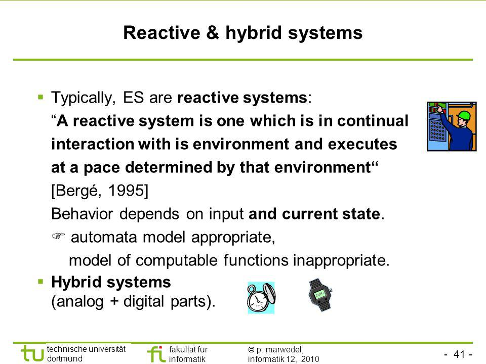 Reactive & hybrid systems