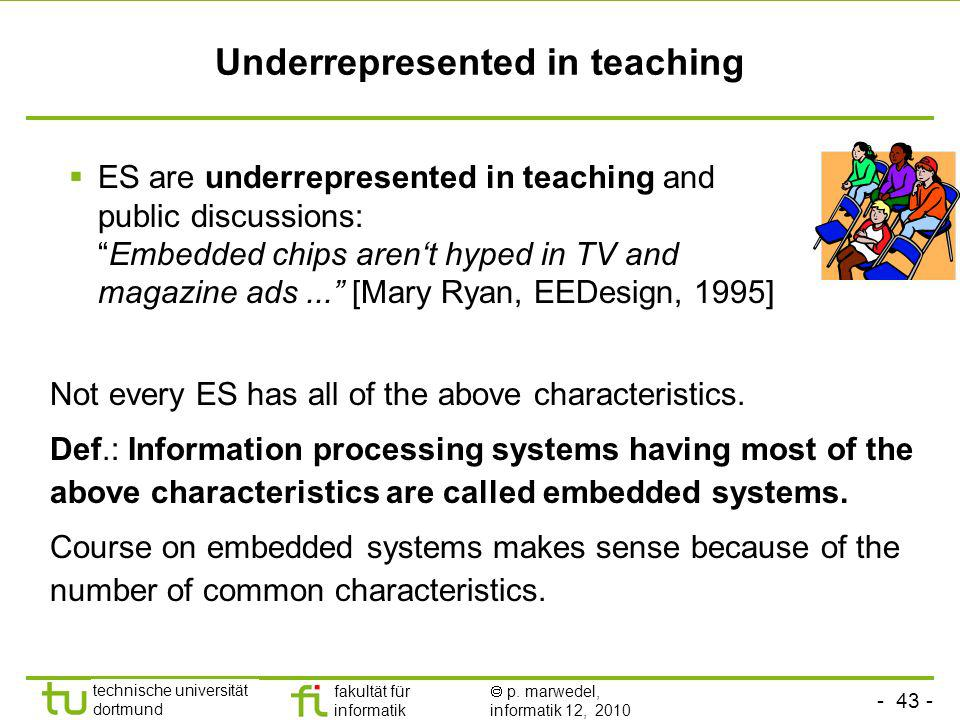 Underrepresented in teaching