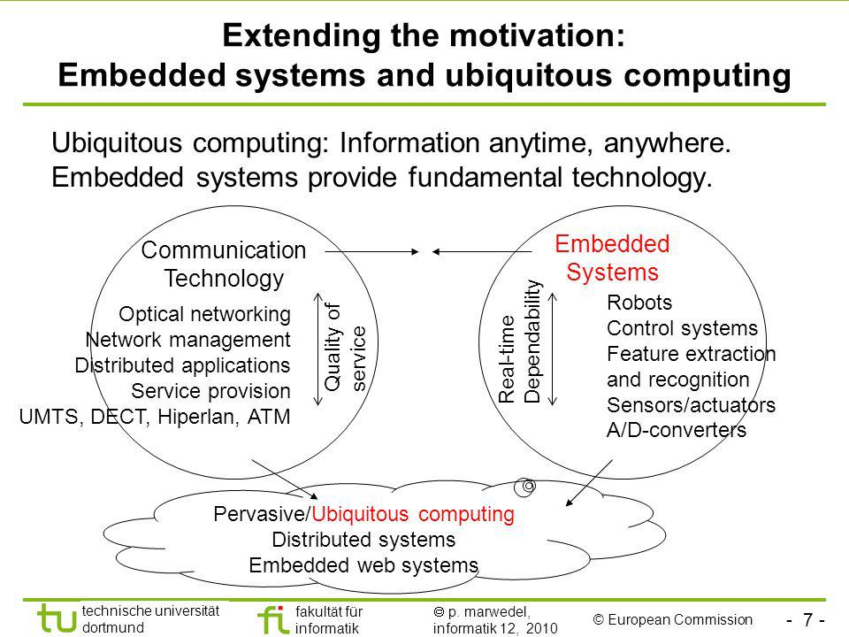 Extending the motivation: Embedded systems and ubiquitous computing