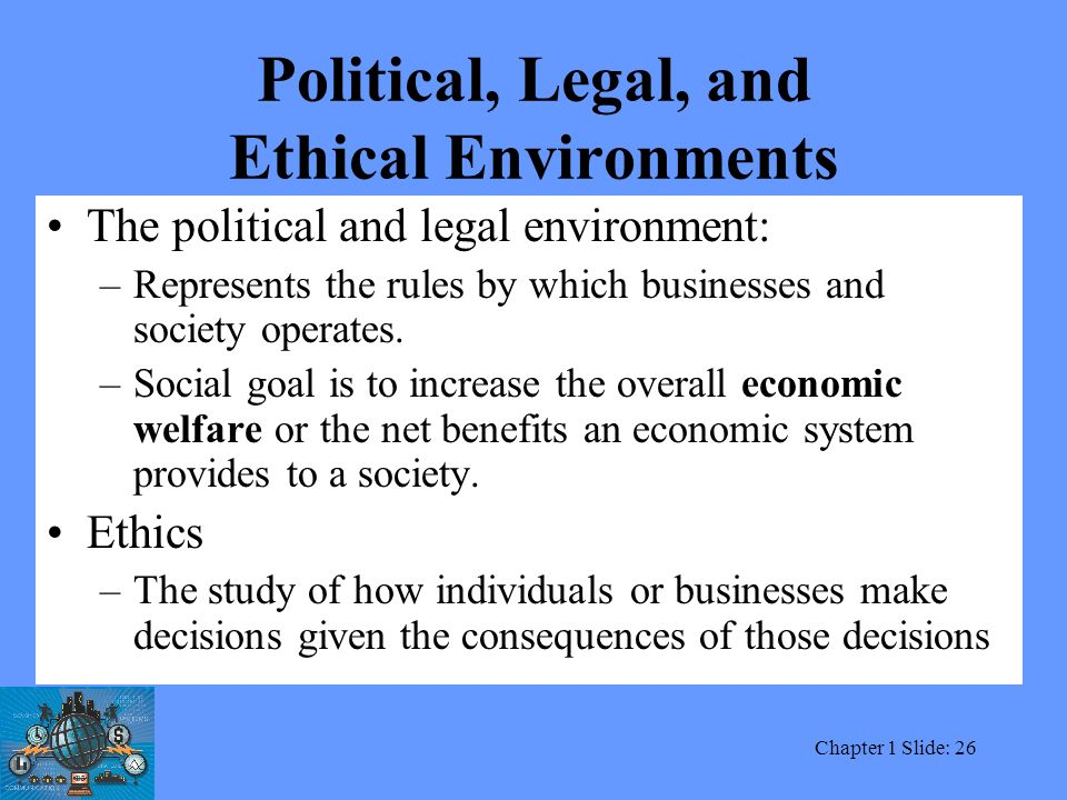 the political and legal environments facing business Lecture on political and legal environment facing international business by prof jaipal s dahiya - duration: 26:44 jk business school 3,809 views.
