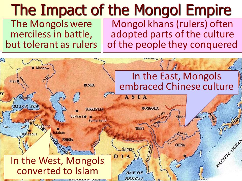 impact of the mongols documents Global hist & geo rating guide – aug '11 [5] vol 2 document 3 a common misconception is that the semiliterate mongols came out of the steppes of.