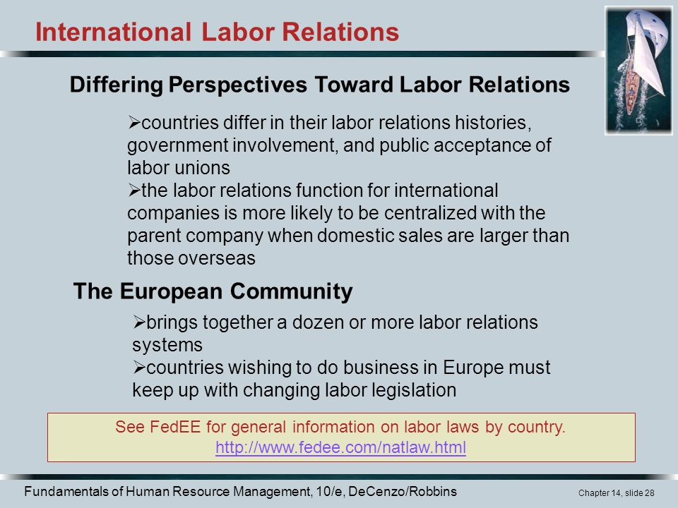 business management employment law labor relations essay The national labour relations act (nlra) was enacted in 1935  reason  regulates labour-management relations where employers enterprise affects  interstate.