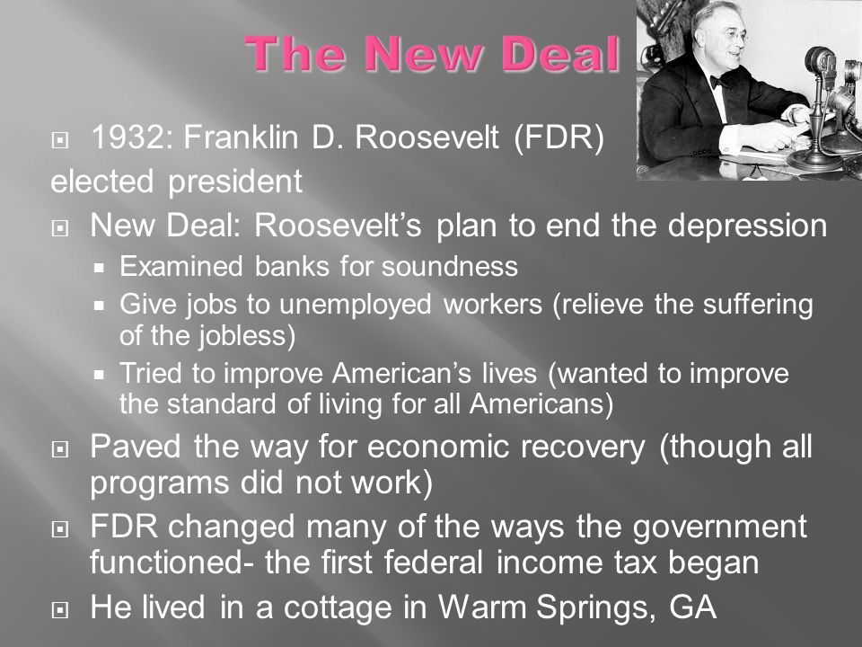 "franklin roosevelts new deal program helped alleviate the nations suffering Fdr was the longest-serving president in us history he was re-elected three times—in 1936, 1940, and 1944 fdr died in office on april 12, 1945 roosevelt and early reaction to nazi persecution of jews roosevelt's main focus in his first term was the ""new deal,"" designed to lift the united states out of the great."