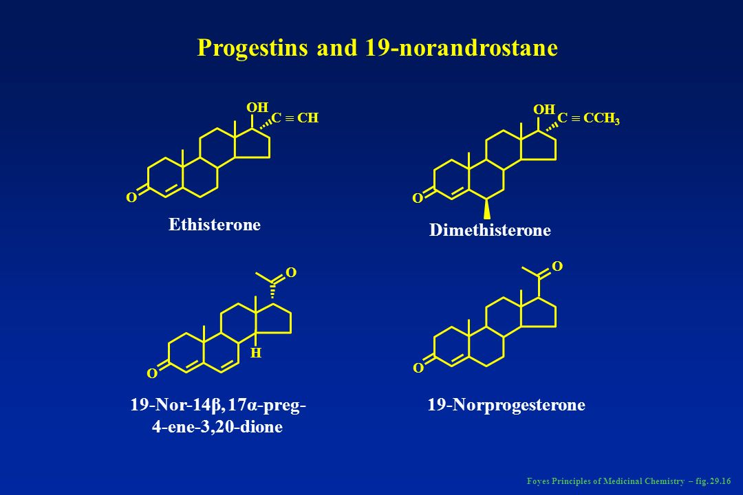 Progestins and 19-norandrostane 19-Nor-14β, 17α-preg-4-ene-3,20-dione