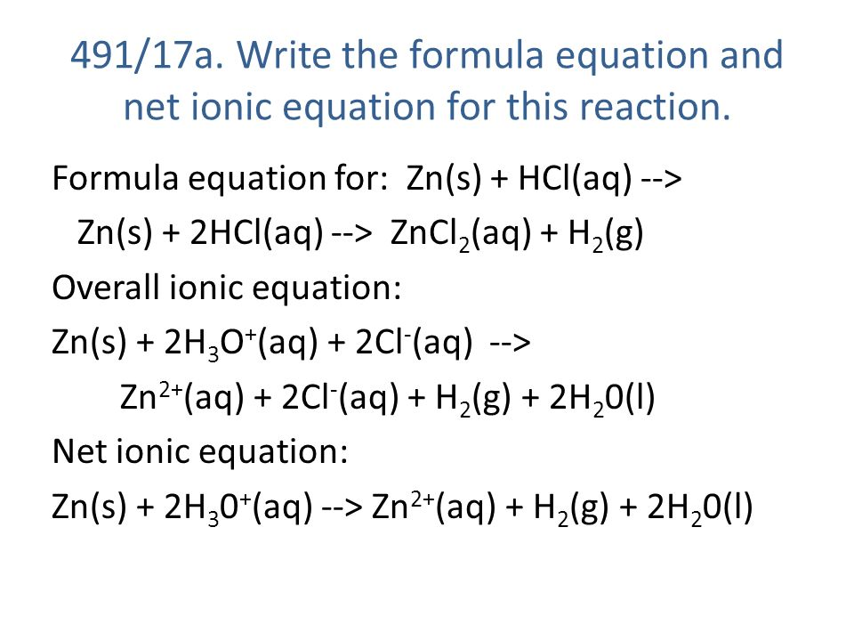 zinc and acetic acid balanced equation