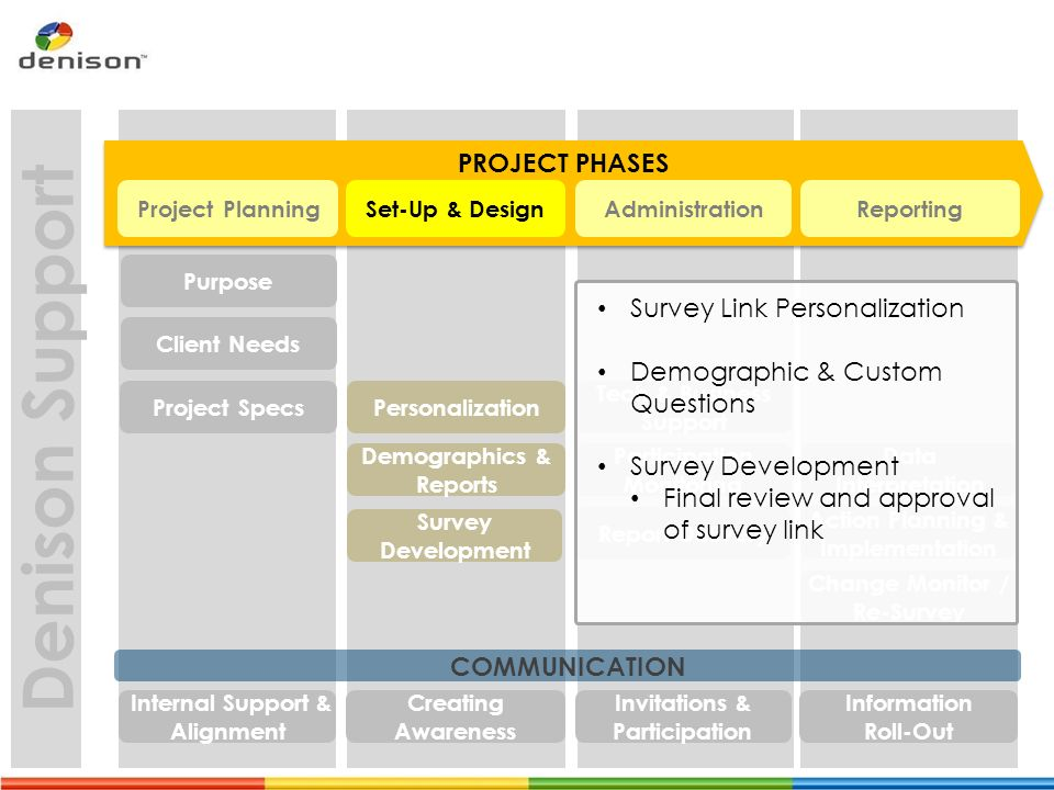 how to set up a project plan for survey implementation