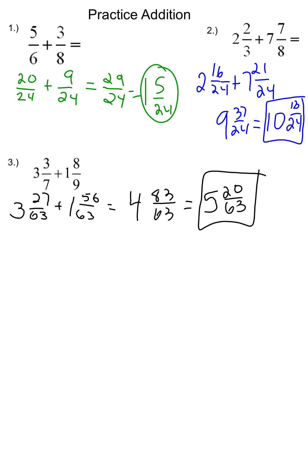53 Adding Fractions Review: Ppt Download