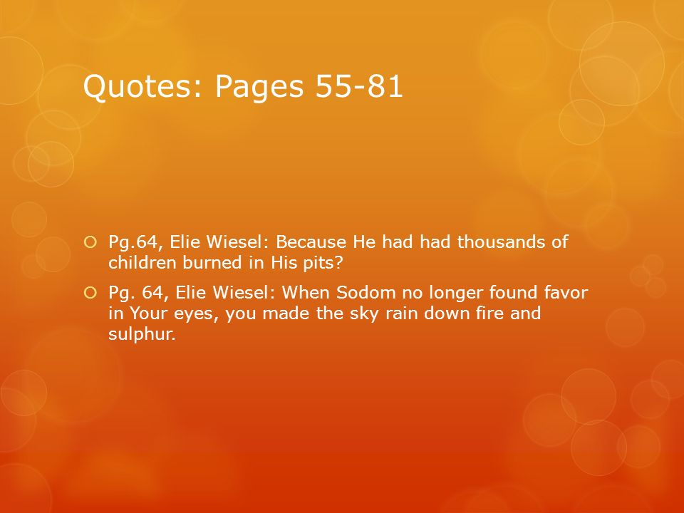 Night By Elie Wiesel Quotes Best Fire Symbol From The Novella Night  Ppt Download