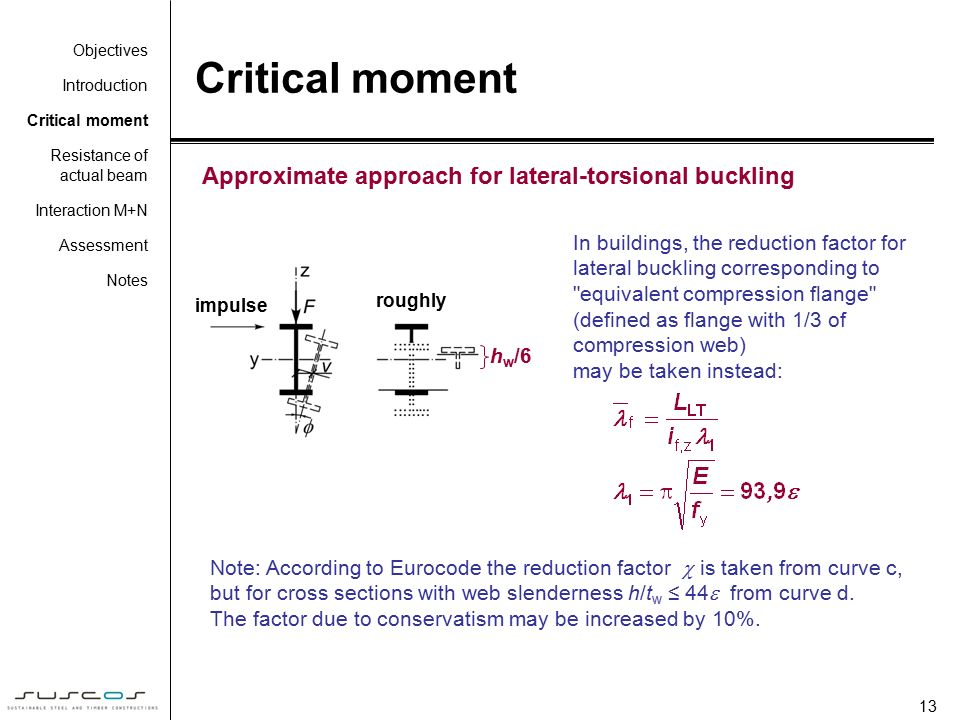 how to avoid lateral torsional buckling