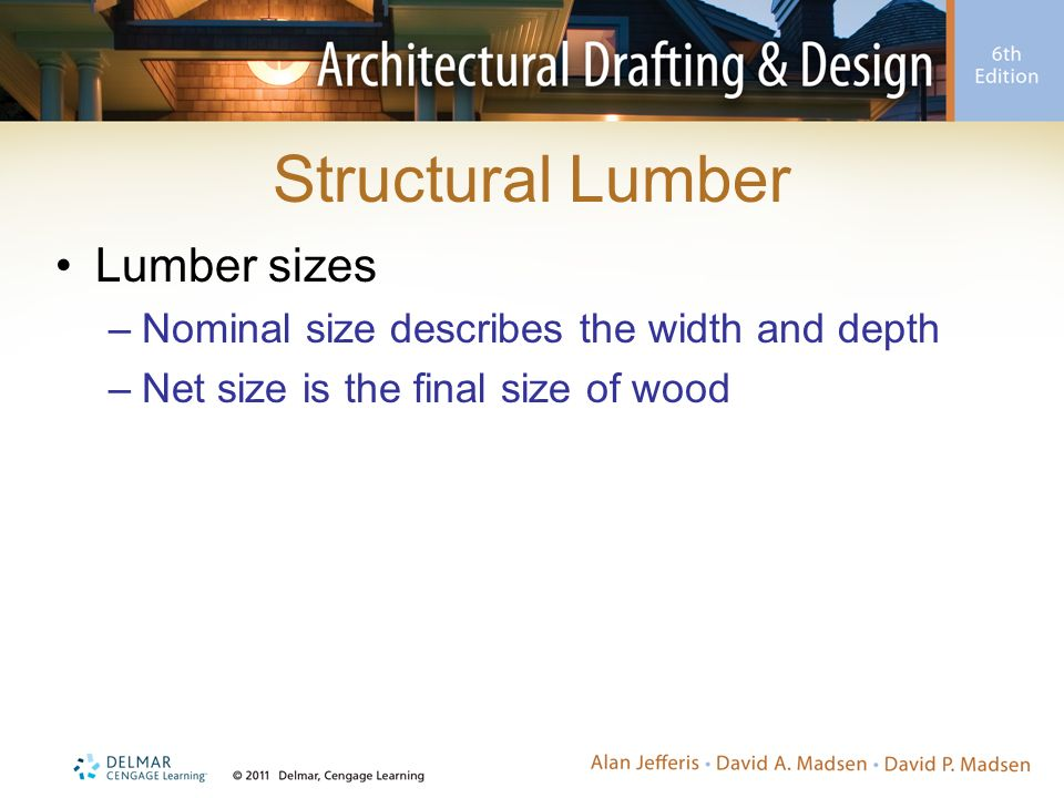 Nominal Sizes Of Wood Beams