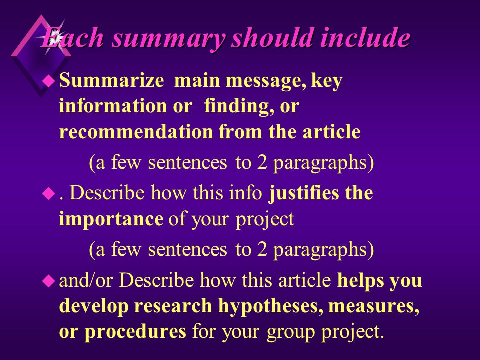 what should be included in the abstract of an article