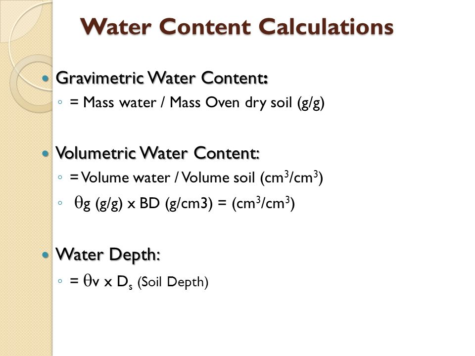 Lab 9 building a soil moisture characteristic curve or for Soil volume calculator