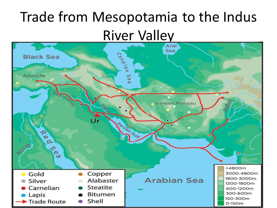 Indus river valley trading system
