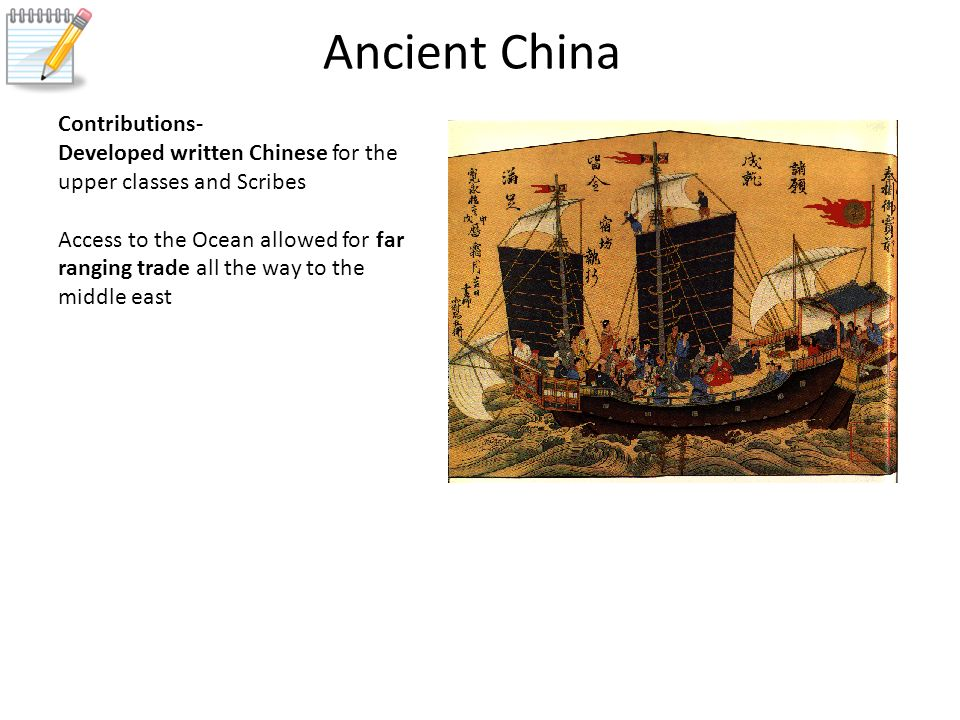 ancient chinas many contribution The ancient chinese are credited with inventing many things that we use today gunpowder could be on top, but our list begins with a healthier discovery.