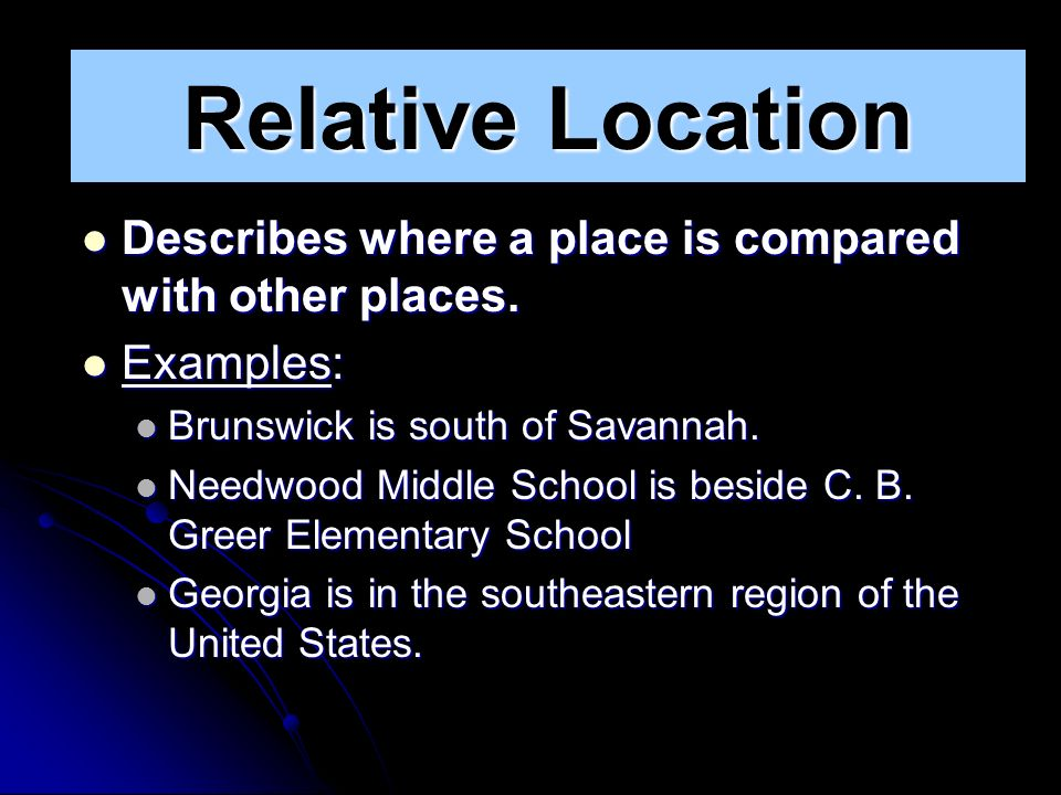 My place in space ppt video online download 4 relative sciox Choice Image