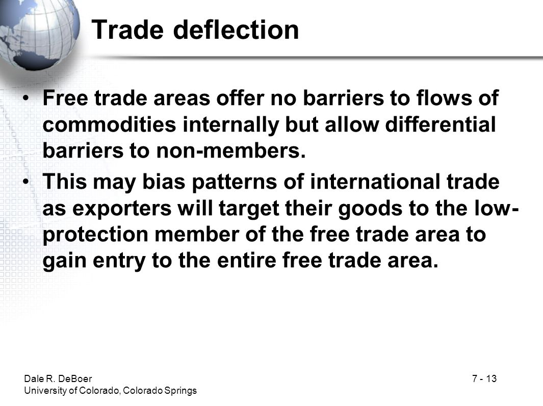 Trade deflection