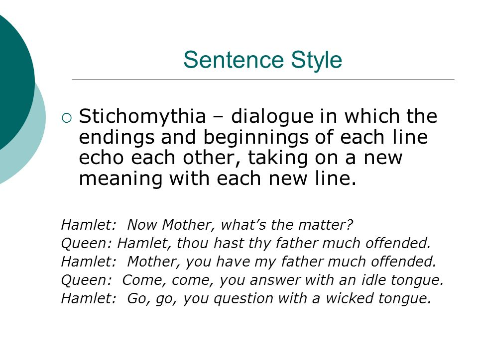 stichomythia of hamlet Stichomythia definition, dramatic dialogue, as in a greek play, characterized by brief exchanges between two characters, each of whom usually speaks in one line of verse during a scene of intense emotion or strong argumentation.