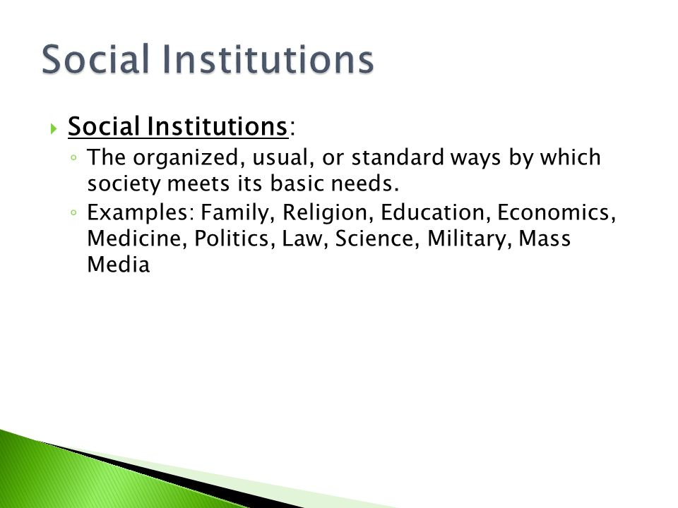 social institutions family education and religion Caribbean advanced proficiency examinations internal assessment1 module 2: social institutions-family, education and religion (7 pages | 2285 words.