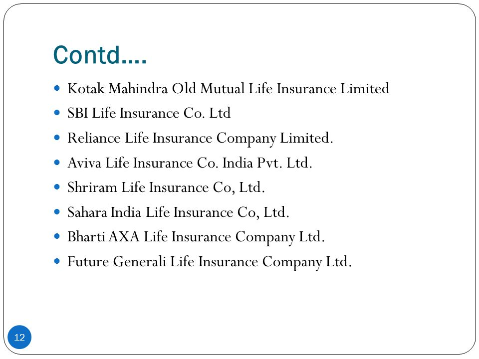 Presentation On Quot Insurance Sector Quot Ppt Video Online Download