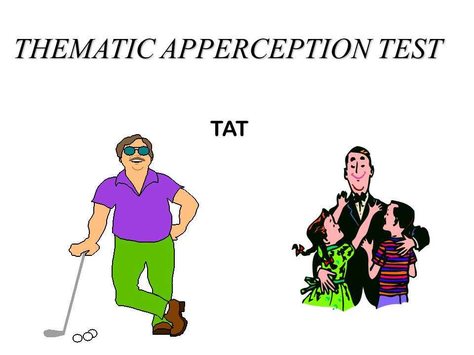 The thematic apperception test requires people to respond to