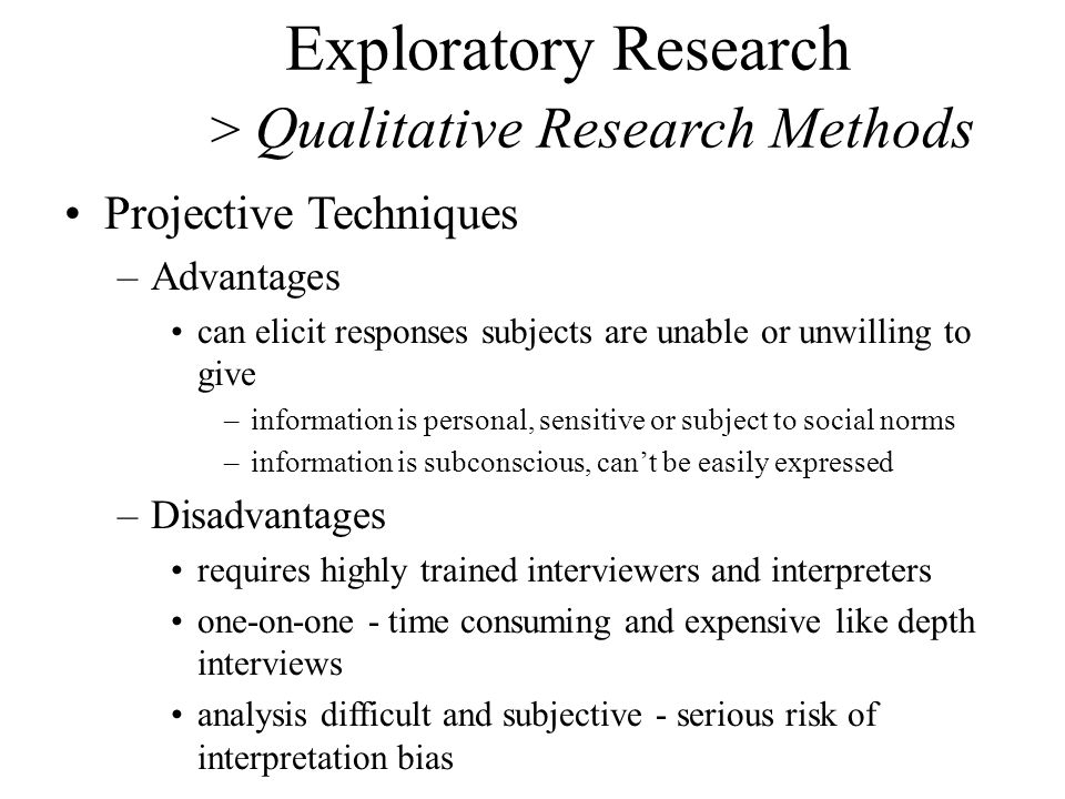 define exploratory research Exploratory research, as explained by djs research ltd this genre of research simply allows the marketer to gain a greater understanding of something that s/he doesn't know enough about for example, just because we know that 3g phones exist, it doesn't necessarily mean that we understand how.