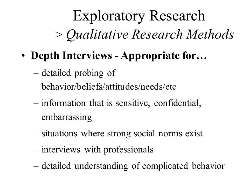 purpose of exploratory research