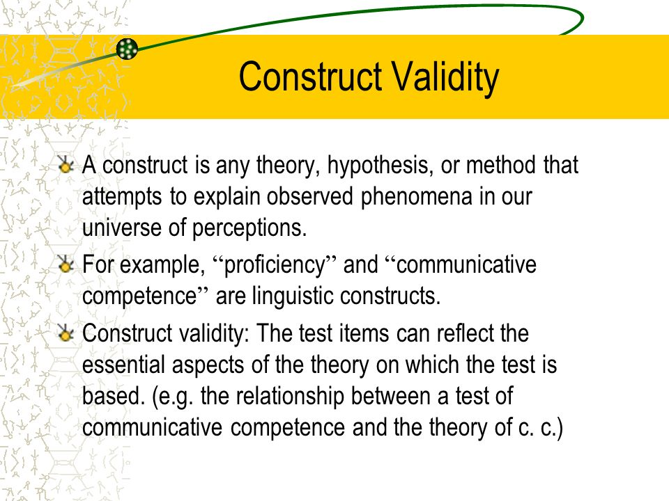 validity of research methods Chapter 13 principles of research design  these terms refer to the overall validity of a research  methods outlined in the previous chapters,.