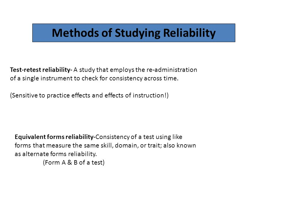 Reliability & Validity - ppt video online download