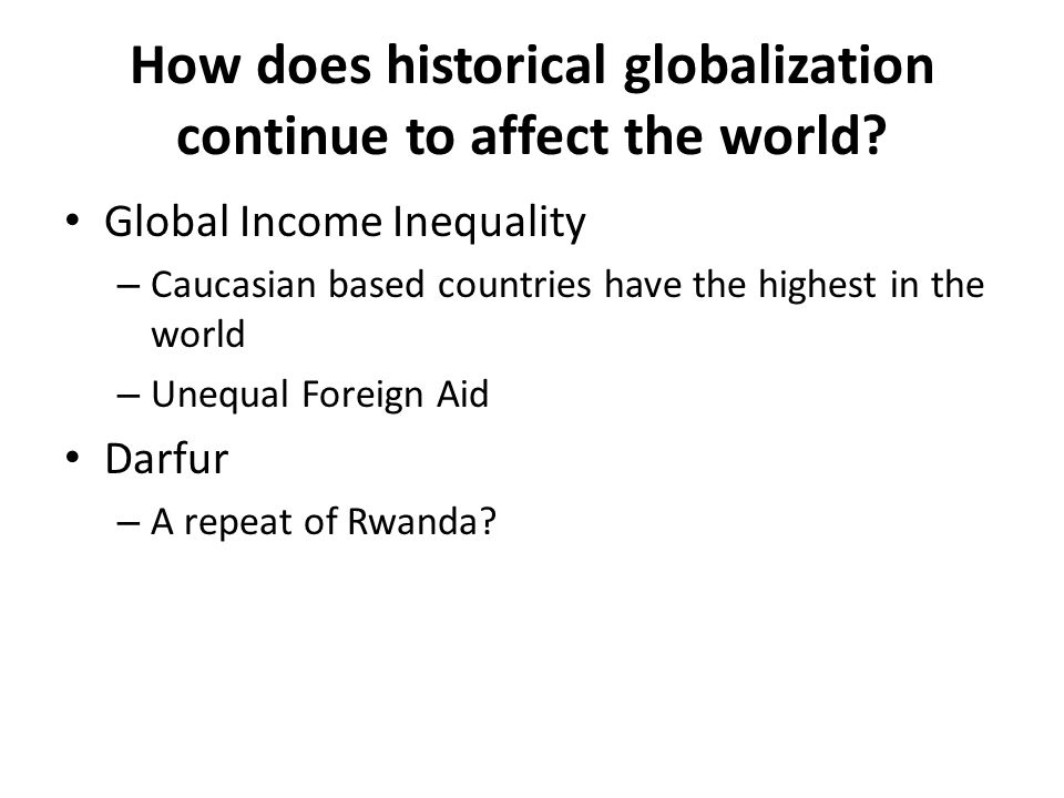 in what ways does globalization affect Get an answer for 'what are the cultural effects of globalization (positive/negative)what are the cultural effects of globalization (positive/negative)' and find.