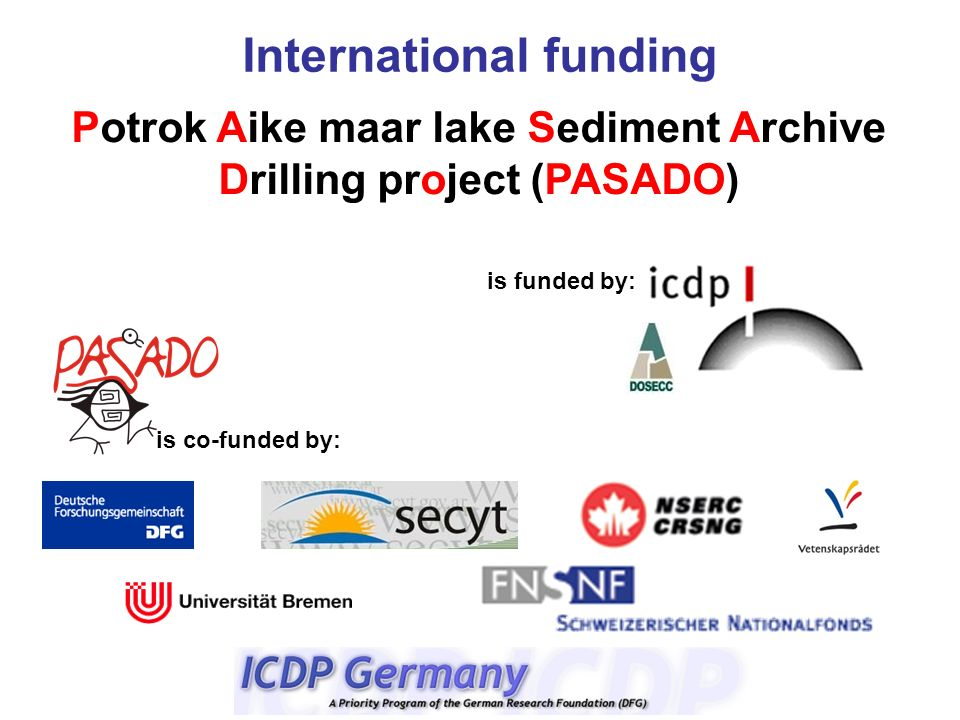 Potrok Aike maar lake Sediment Archive Drilling project (PASADO)