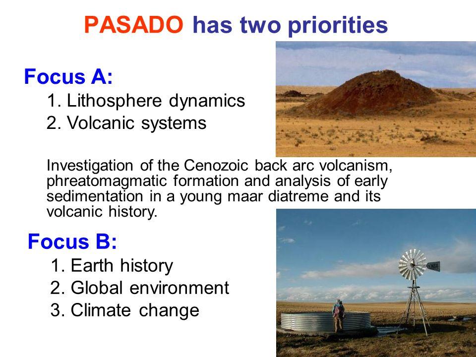 PASADO has two priorities