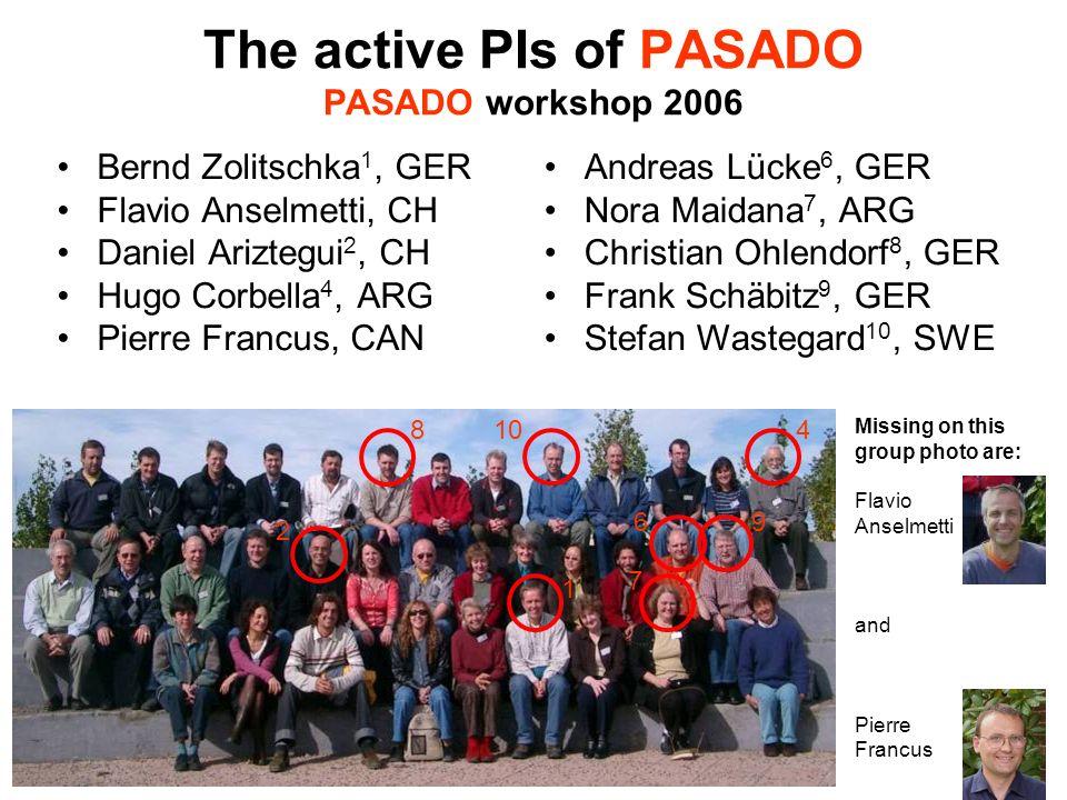 The active PIs of PASADO PASADO workshop 2006