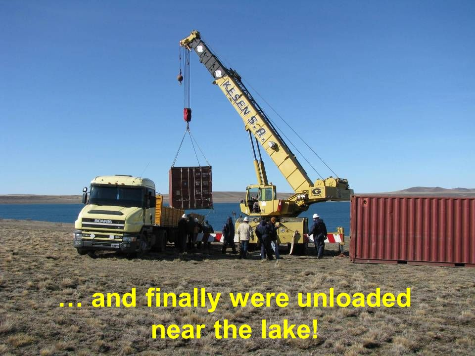 … and finally were unloaded near the lake!