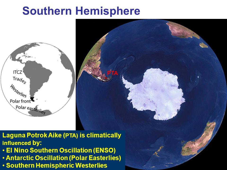 Southern Hemisphere Laguna Potrok Aike (PTA) is climatically