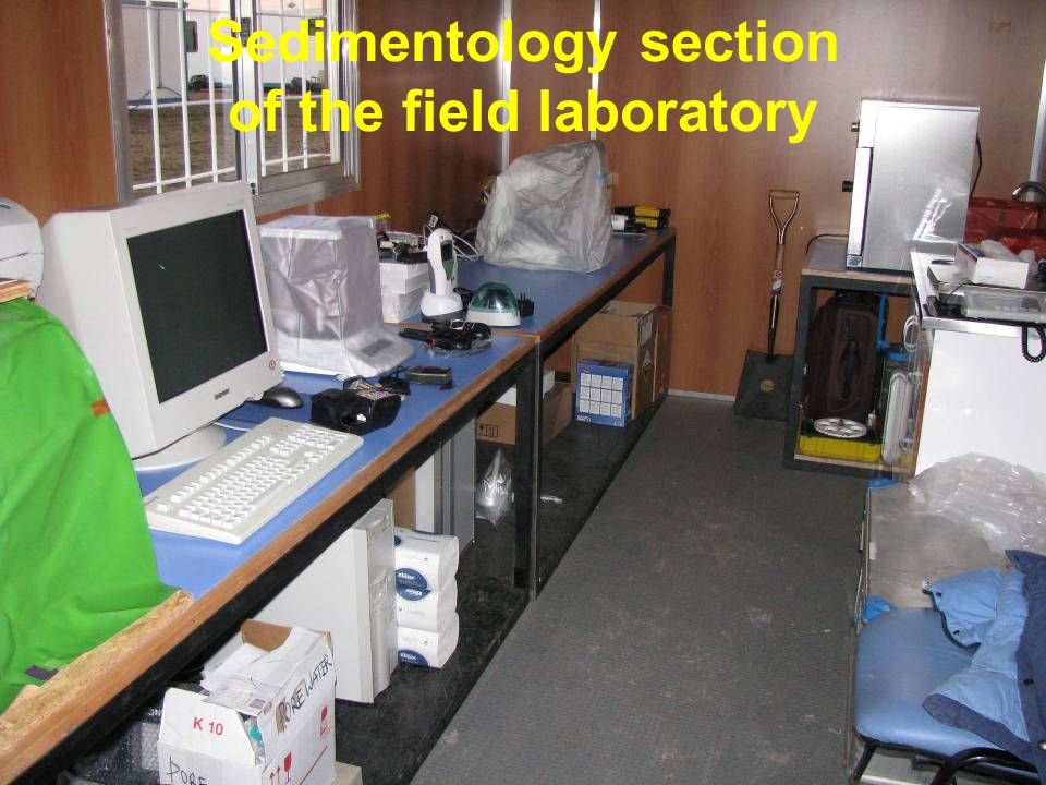 Sedimentology section of the field laboratory