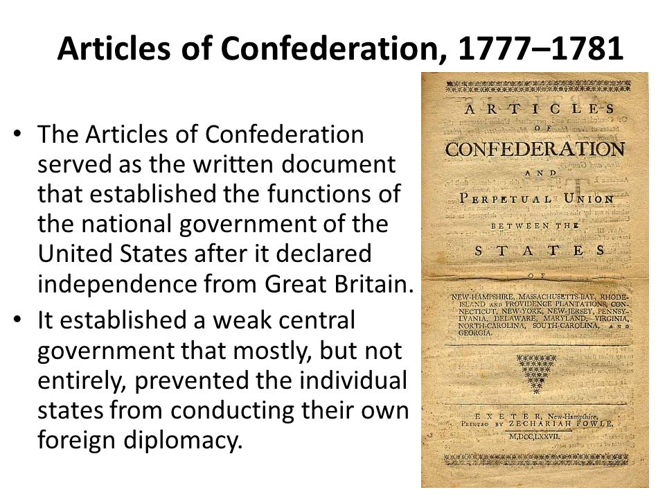 what content articles involving confederation